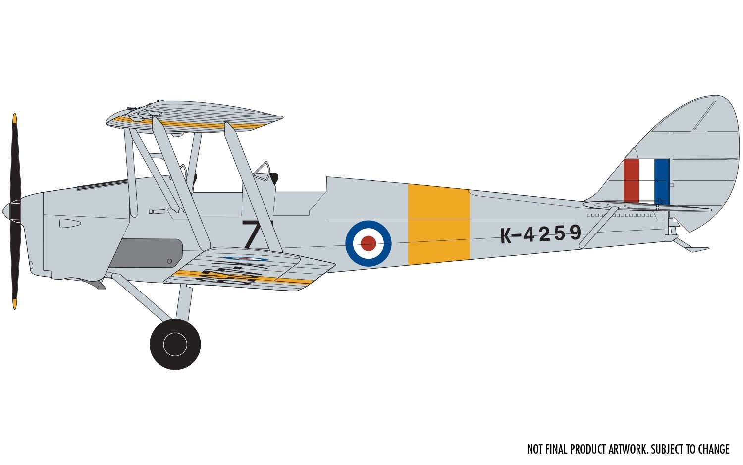 De Havilland D.H.82a Tiger Moth, Airfix 1/48