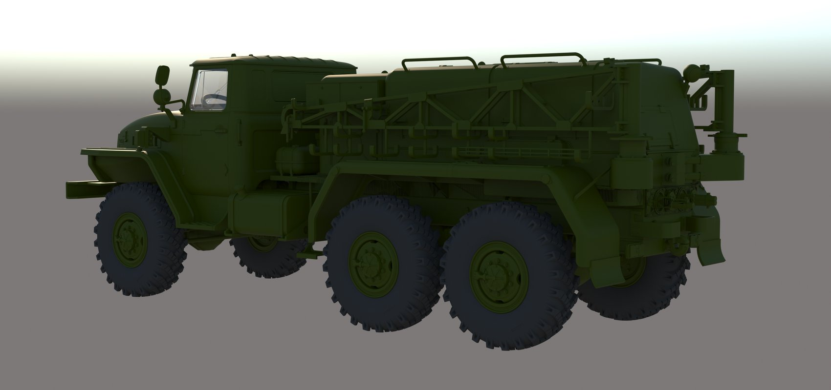KH80158 1/48 Russian Bomb Loading cart with Ural 4320