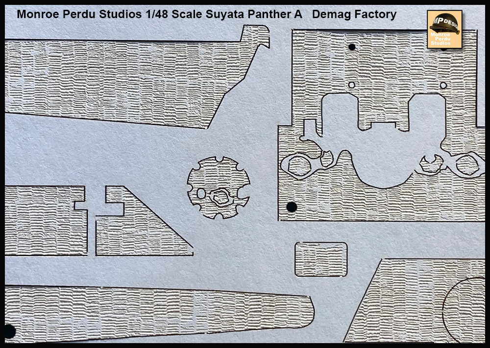 Monroe Perdu Studios 143 - Zimmerit for 1/48 Scale Suyata Panther A