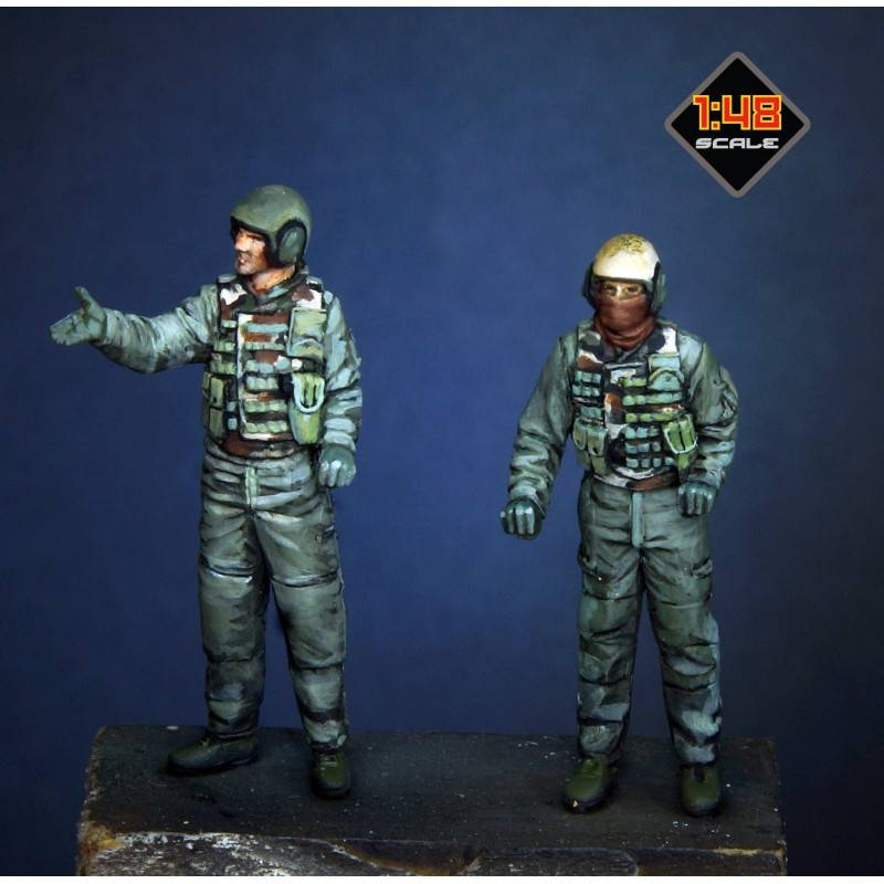 Paracel miniatures MINI4801 US tank crews in 48th (OIF 2003) for Tamiya kit